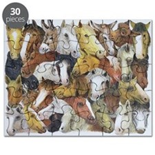 Horses Horses (oil on canvas) - Puzzle