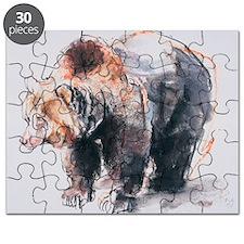 European Brown Bear, 2001 (charcoal - Puzzle