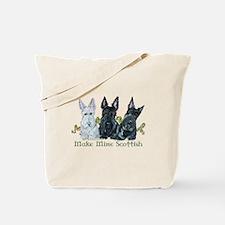 Scottish Terrier Trio Tote Bag