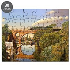 Train Crossing, 2008 (oil on canvas) - Puzzle