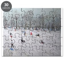 Tobogganers, Darley Park, 2009 (oil on ca - Puzzle