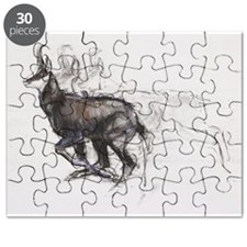 Running Chamois (charcoal - Puzzle