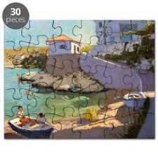 Fishing Nets, Samos, 2005 (oil on canvas) - Puzzle