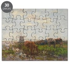 Cattle Grazing at the Water's Edge, c.188 - Puzzle