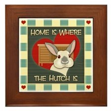 Home is where the hutch is Framed Tile