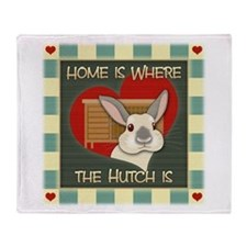 Home Is Where The Hutch Is Throw Blanket