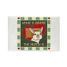 Home is where the hutch is Rectangle Magnet