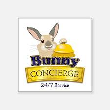 """Bunny Concierge Square Sticker 3"""" x 3"""""""