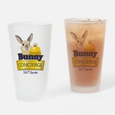 Bunny Concierge Drinking Glass
