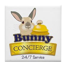Bunny Concierge Tile Coaster
