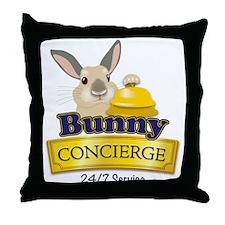 Bunny Concierge Throw Pillow