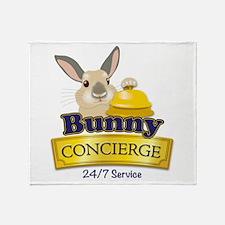 Bunny Concierge Throw Blanket