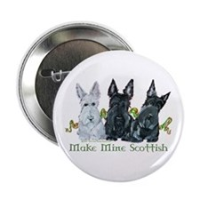 "Scottish Terrier Trio 2.25"" Button (10 pack)"