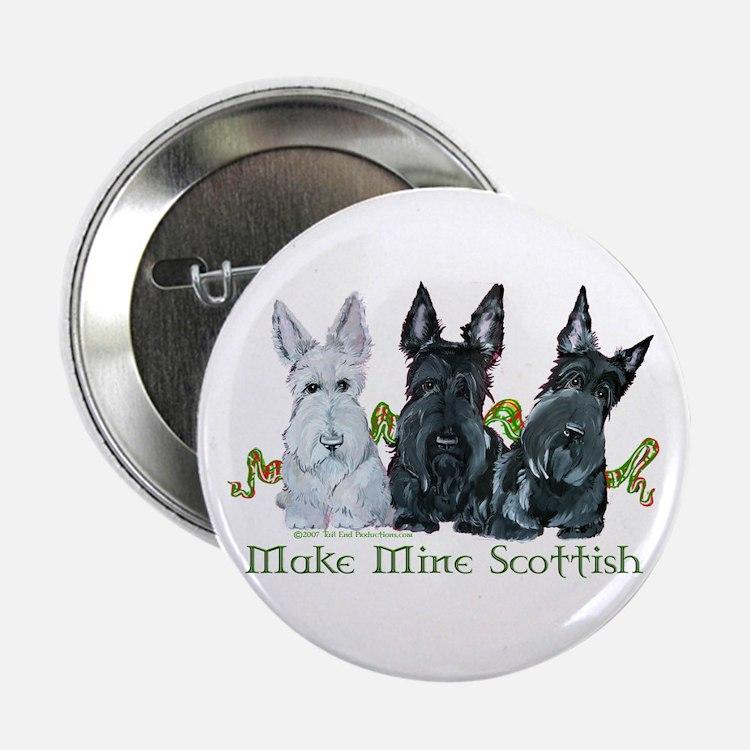 Scottish Terrier Trio Button