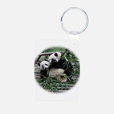 panda_fighting Keychains