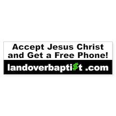 Free Phone Bumper Bumper Sticker