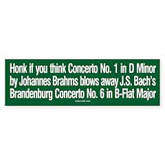 Brahms & Bach sticker