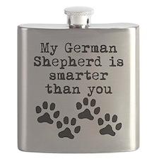 My German Shepherd Is Smarter Than You Flask