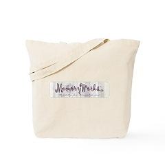 MW Striped Logo Tote Bag