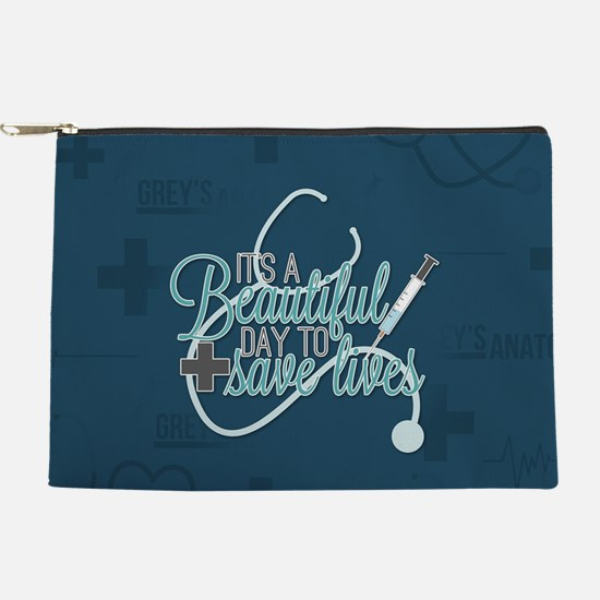 It's A Beautiful Day To Save Lives Makeup Pouch