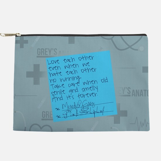 Greys Anatomy Sticky Note Makeup Pouch