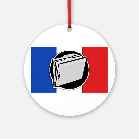 Francophile Ornament (Round)