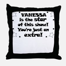Vanessa is the Star Throw Pillow