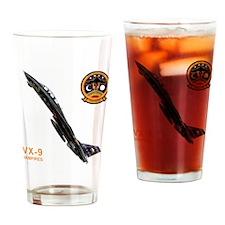vx9logo10x10_apparel copy.jpg Drinking Glass
