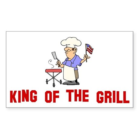 King of the Grill Rectangle Sticker