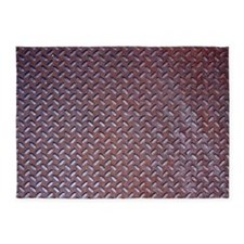 Rusted Steel Tread 5'x7'area Rug