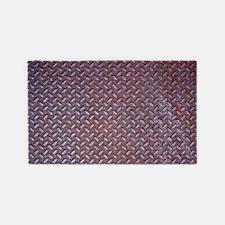 Rusted Steel Tread 3'x5' Area Rug