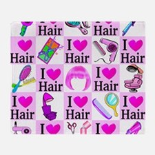LOVE HAIR Throw Blanket