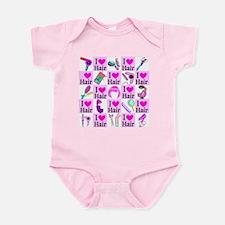 LOVE HAIR Infant Bodysuit