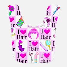LOVE HAIR Bib