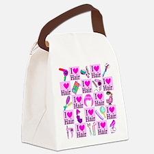 LOVE HAIR Canvas Lunch Bag
