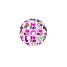 LOVE HAIR Mini Button (10 pack)