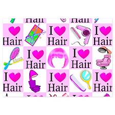 LOVE HAIR 5x7 Flat Cards