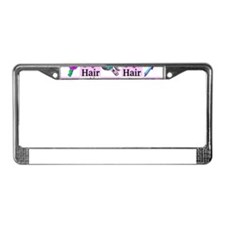 LOVE HAIR License Plate Frame