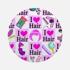LOVE HAIR Ornament (Round)