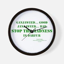 DARFUR AWARENESS Wall Clock