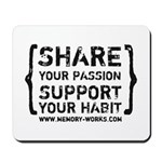 Share Your Passion Logo Mousepad