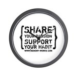 Share Your Passion Logo Wall Clock