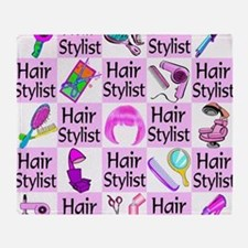 SUPER HAIR STYLIST Throw Blanket