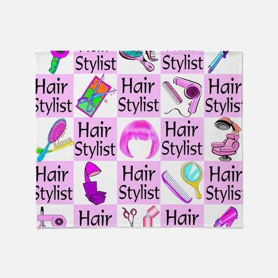SUPER HAIR STYLIST Throw Blanket