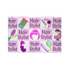 SUPER HAIR STYLIST Rectangle Magnet
