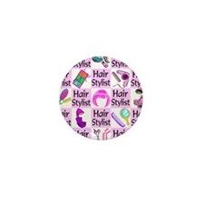 SUPER HAIR STYLIST Mini Button (100 pack)