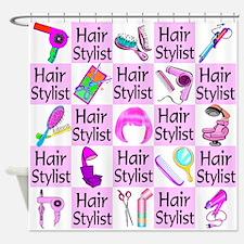 SUPER HAIR STYLIST Shower Curtain