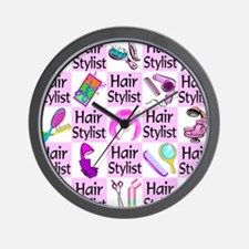 SUPER HAIR STYLIST Wall Clock