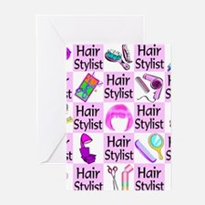 SUPER HAIR STYLIST Greeting Cards (Pk of 20)