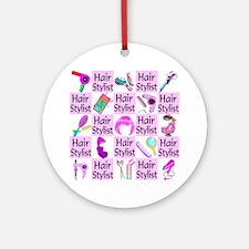 SUPER HAIR STYLIST Ornament (Round)